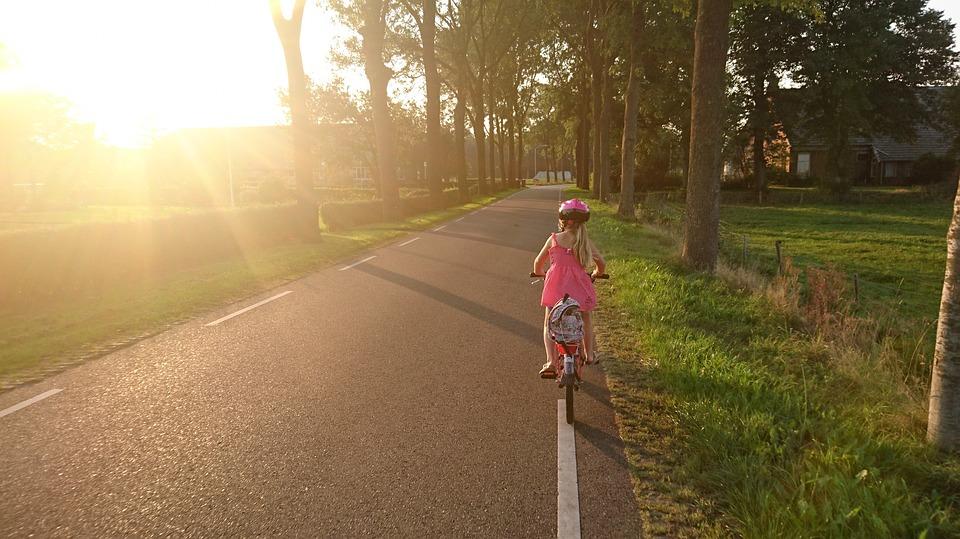 meisjes fiets